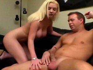 Busty Blond Caressa Has Her Face Jizzed!