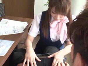 Office MILF Yui Hoshino Rewards Him For Good Work