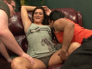Multiracial penetrating of an eager to fuck horny