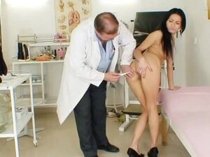 Victoria Rose and her perverted doctor with dildo