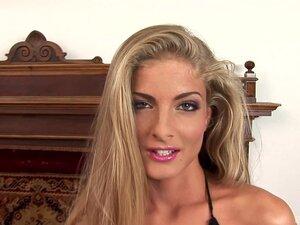 Long-haired blonde slut enjoys exploiting two