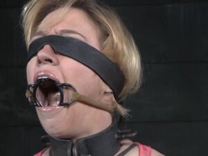 Bigtitted restrained nt submissive caned,