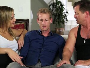 Amazing blonde pleased big cock guy and rode his