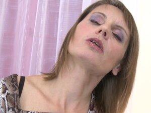 Delightful matured erotic dame loving using