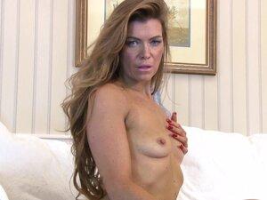 Small tits mature Vanessa Jordan moans while