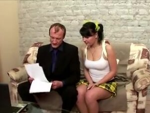 Hot black-haired young chick gets licked by her