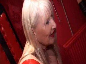 Sissy maid sucks cock under mistresses guidance