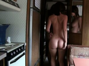 Young and slim teen girl Jada Stevens does a