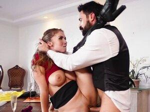 Busty wedding planner fucks big cock groom