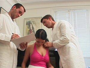 Nice ass porn star in panties satisfies two cocks