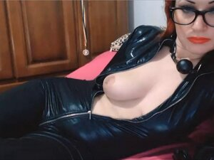 leather webcam