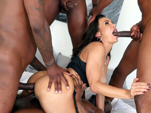 Lisa Ann gets all her holes filled with big cocks