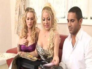 British slut Cindy gets fucked in a Ffm threesome