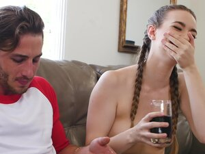 Kinky girlfriend Tali Dava with pigtails gets