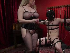Busty blonde mistress enjoys hardcore BDSM