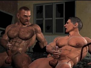 3D Gays with Big Cocks and Muscles!, Muscled 3d