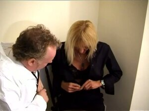 Hot Granny Goes To Doctor To Check Her Boobs And