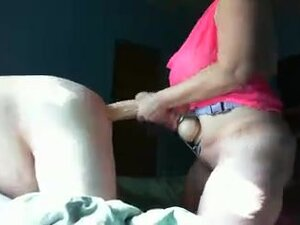 Submissive slave fucked by mistress with a