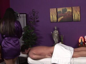 As good as the massage is, her handjob finish is