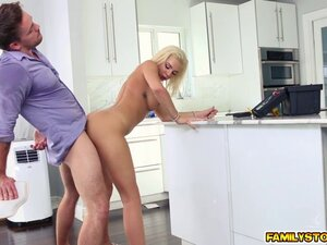 Tiffany Watson mouth stuffed with a thick cock