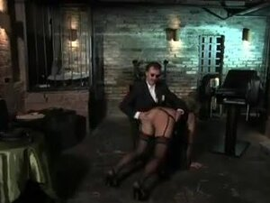 Tied mature slut gets treated with vibrator by her