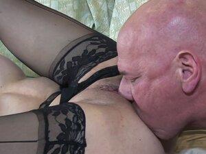 Horny milf Sexy Vanessa gives footjob and blows