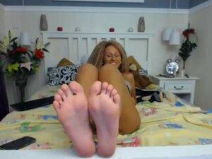 Crazy Hair Pretty Girl Feet In Face NO SOUND