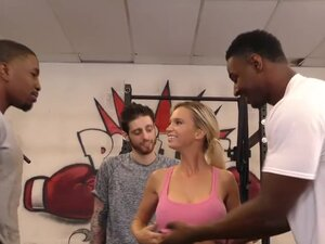 Astrid Star's First Interracial Threesome -