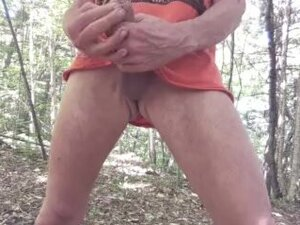 Walking naked in the forest and masturbating #3