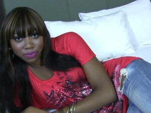 Ebony sluts face jizzed