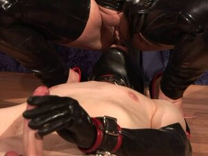 Mistress Silvia trains slave to suck cock and eat