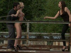 Euro girl gets punished in public, European hottie