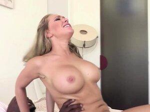 Kagney Linn Karter riding her pussy on top of BBC