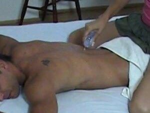 Seducing massage by real czech brunette, Hot