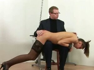 Spanked young secretary