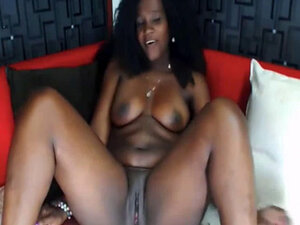 Hot ebony latina milf on webcam