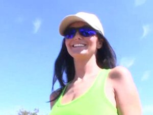 Ava Addams is a brunette that you'll see outdoors,