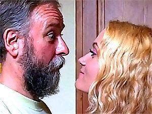 Breath Taking Blonde Teen Rides An Old Man's Stiff