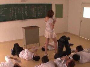 Arisa Sawa Hot Japanese teacher in class part1