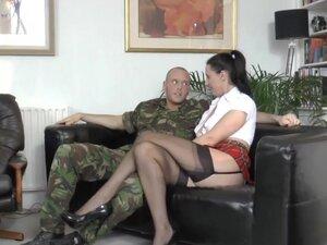 Mature brit fucks soldier