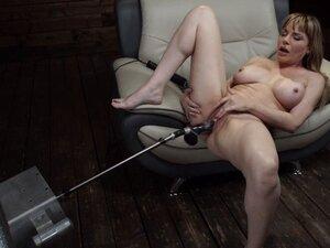 Dana DeArmond fucks herself with machine