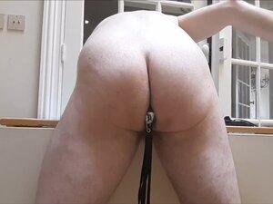 Leather flogging my ass after long ass fuck