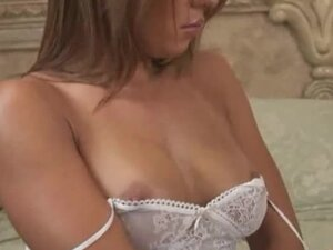 Playmate Rubs Lotion On Her Naked Body