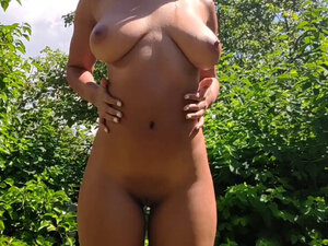 Exhibitionist fucking in front of the neighbours