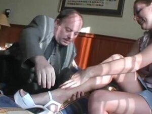 Moustache old guy fucks big jugged girl in hotel