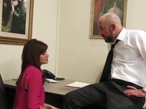 Sexy Office Assistant Fucks Her Boss for