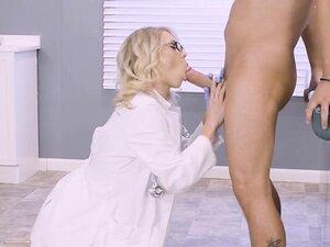 Blonde Doctor Katie Morgan Makes Hung Patient