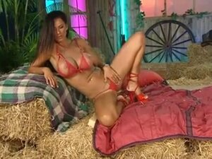 Ava Blue in the Barn with Red Heels