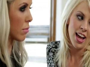 Nina Elle seduces her new innocent roommate Tara