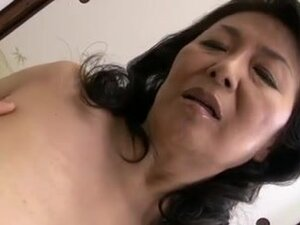 Old and horny Japanese mature bitch finger fucked,